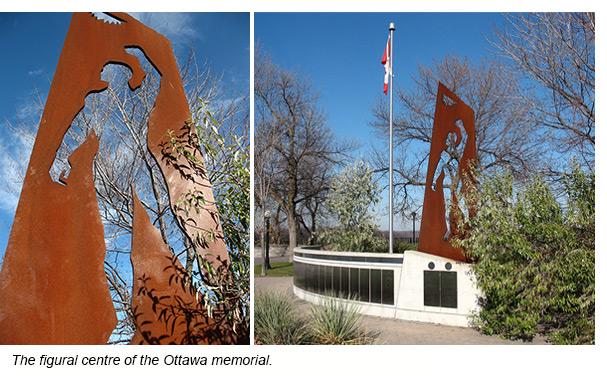 The figural centre of the Ottawa memorial.
